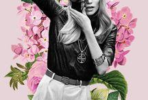 Vintage collage fashion shoot