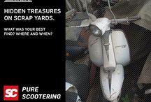 Vespa & Lambretta hidden treasures on scrap yards / Hidden treasures on scrap yards.