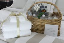 Guest Welcome Baskets and notes