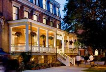 Saratoga Arms / The Saratoga Arms is an elegant and award winning historic hotel located on Broadway. It features spalking Saratoga water,  dinning services, a porch and an onsite spa service    #ILoveSaratoga www.ilovesaratoga.us