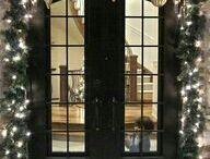 karácsonyi dekorációk ajtóra
