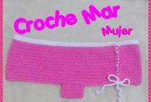 bikinis tejidos por Croché Mar