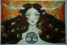 My Favorite Watercolor Artworks / Watercolor Artwork,Watercolor Illustrations,Watercolor Postcards,Colorfoul Art