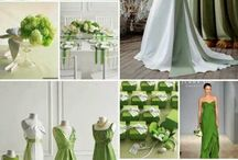 Green Theme / We're loving single hue themes for events. From food to favors, decor to drinks, we're going Green!