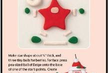Navidad moldes en porcelanicron