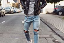 outfit / læderjakke