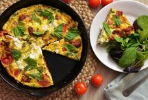 Omelettes and frittatas