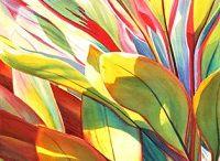цветы листья