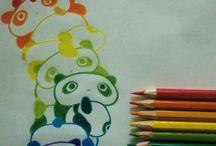 regenboog panda's