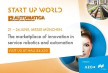 STARTUP WORLD / Check out AZO's automation and service robotics impressions from the STARTUP WORLD @AUTOMATICA.