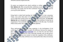 fake diploma certificate