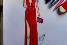 Croquis de Moda(por Waal Barbosa) / Desenhos feitos por mim
