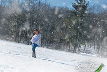 Snow Maternity / Maternity Photography on location during the winter months