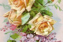 Posliininmaalaus: ruusut