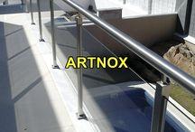 """CORRIMÃO INOX COM VIDRO MESCLADO / Corrimão em tubos de aço Inox 304 escovado ou polido e vidro, sendo Tubo Superior Redondo de 2"""", Colunas Quadradas de 40×40 e vidro incolor temperado.  FALE  AGORA COM O SERGIO  Whatsapp: (19) 9.8363.4489  Celular: (19) 78273367 ID: 14*1003369  E-mail: corrimaoinox@hotmail.com  Site: corrimaoinox.wordpress.com"""