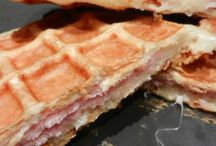 Gaufres jambon fromage