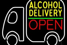 We Deliver Open Neon Signs
