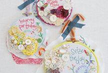 Hoop embroideries