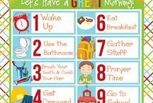 schedules & charts / by Tricia Hardy