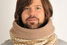 Tørklæder / Lækre håndlavede tube tørklæder med inderfor i fleece.
