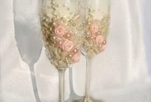 vidros e taças decoradas