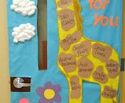 Bulletins boards and school doors