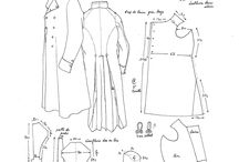 19th century costume pattern