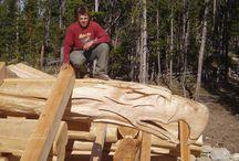 log sculpting