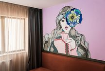 Anna and her Flower | Wall Mural