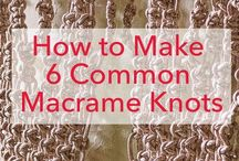 Macrame common knots how to make it?