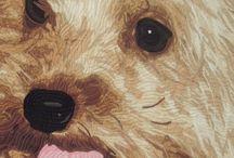 dog art quilts