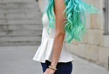 Cool hair / Different hairstyles and haircuts or colours
