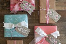 Gift wrapping / Pretty ways to make the outside of gifts as exciting as the inside!!