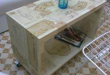 Muebles pintados - Painted furniture / Muebles pintados a mano.  Handpainted furniture. www.pintamurales.com