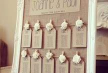 Reception name cards/seating chart