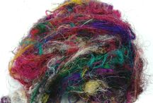 Sari silk fibre for spinning and felting / Recycled Sari silk packs for spinning felting art yarn needle felting textiles