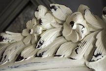 White French Triple Armoire / White Louis XV style antique French triple Armoire