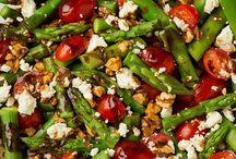 Asparagus tomatoe salad