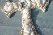 Sea shell crosses