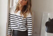 Look 03: Jupe + pull / marinère ou robe col Claudine