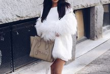 white fur coat short