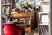 Working places / An Artists working place tells a lot about the person and her/his art. It is utmost inspiring :-)
