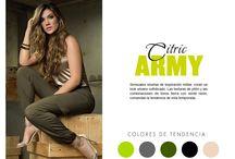 Citric Army / Sensuales siluetas de inspiración militar, crean un look urbano sofisticado. Las texturas de pitón y las combinaciones de tonos tierra con verde neón, comandan la tendencia de esta temporada.