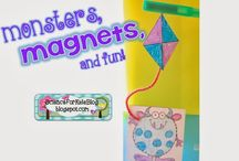 Magnets / Collection of magnet fun for Grade 1 / by Barbara Leyne Designs