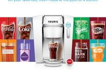 Keurig KOLD / It's the coolest thing to happen to cold drinks. Keurig KOLD makes all your favorites like Coke, Diet Coke, or Dr Pepper. Or you can make a whole new favorite like an iced tea or craft soda. / by Keurig