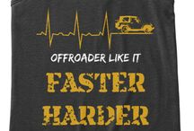 FrendsJeep TShirt / OFFROADER LIKE IT FASTER HARDER DEEPER JEEP SAVES LIVES
