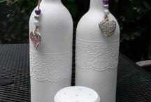 borosüveg dekor csipkével