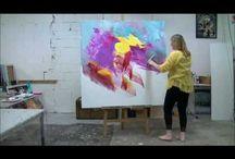 Vidéos peinture abstraite