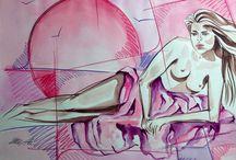 Colorare i Pensieri.... / Dipinti, schizzi e bozze.....