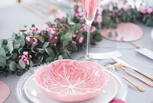 Touch of pink table decor
